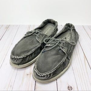 SPERRY Top-Sider Grey Washed Distressed Boat Shoes